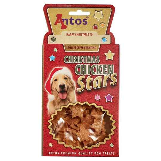 Antos Christmas Chicken Stars  100g