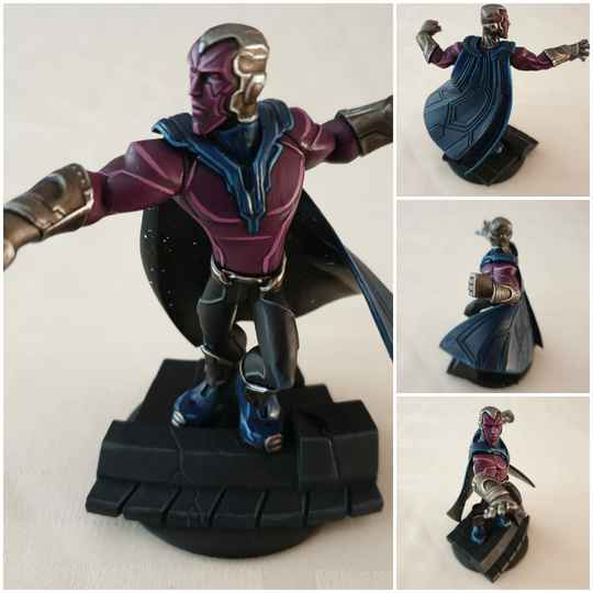 Marvel vision painted