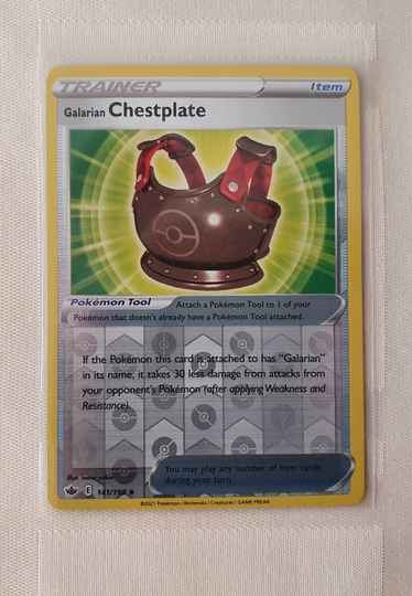 Trainer Galarian chestplate holo