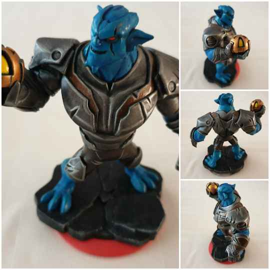 Green goblin blue painted