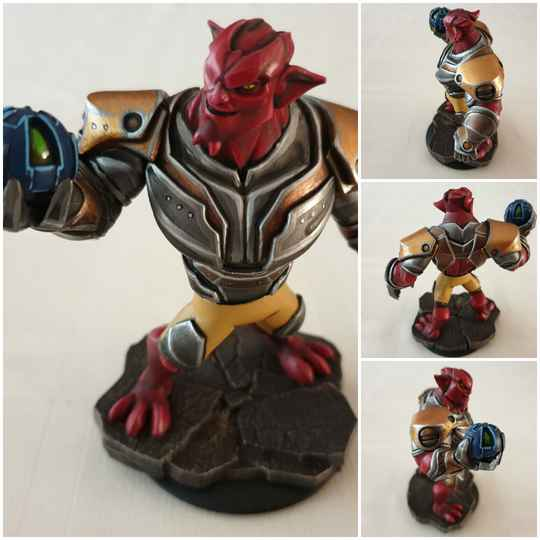 Green goblin red painted