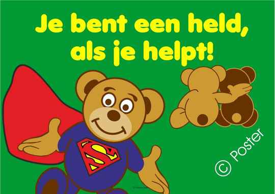 Poster 'Je bent een held'