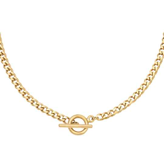Lock It Up Necklace Gold