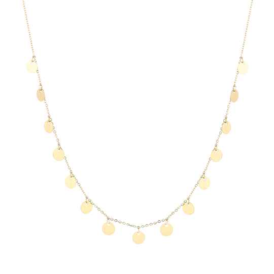 Floating Coins Necklace Gold