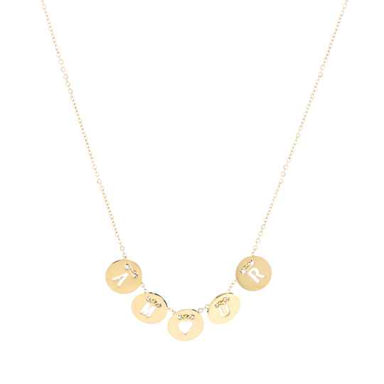 Amour Coins Necklace Gold