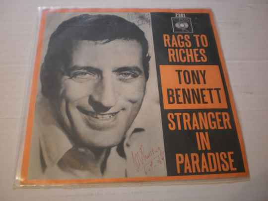 Single Tony Bennett - Rags to riches