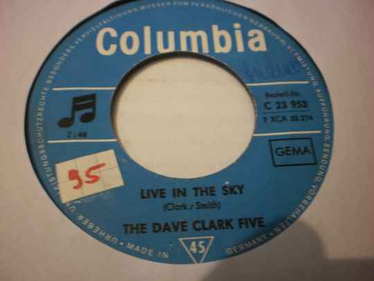 Single The Dave Clark Five - Live in the sky / Children