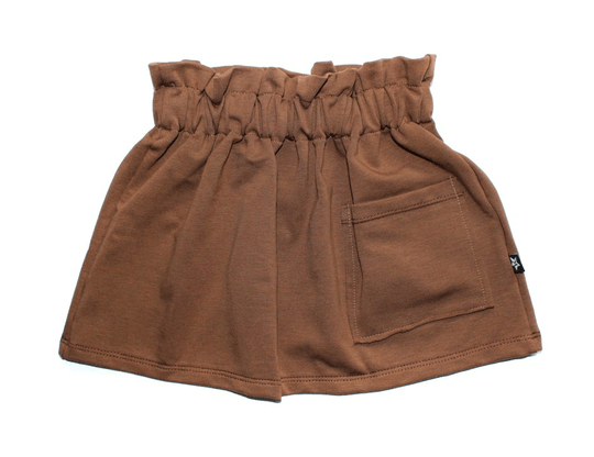 Pocket skirt | Brown