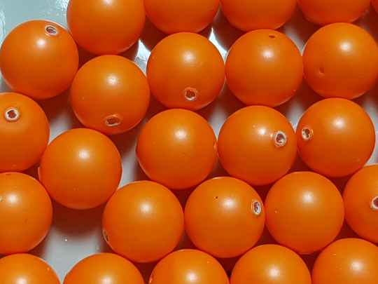25. Swarovski Pearl 8mm Neon Orange/ 30 st