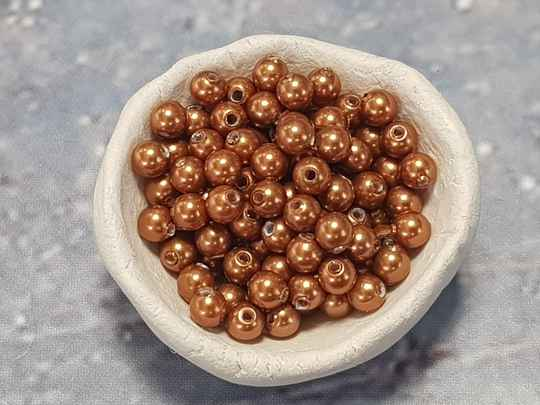 05. Swarovski Pearl 3mm Copper/ 112 st