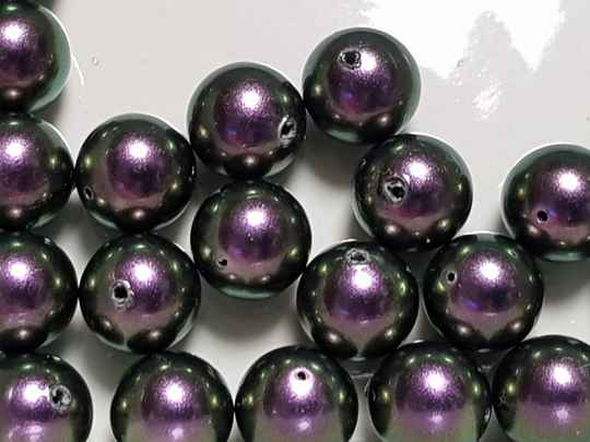 07. Swarovski Pearl 8mm  IRID Purple/ 20 st