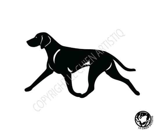 Weimaraner ! on the move ! SILHOUET > choose your item :)
