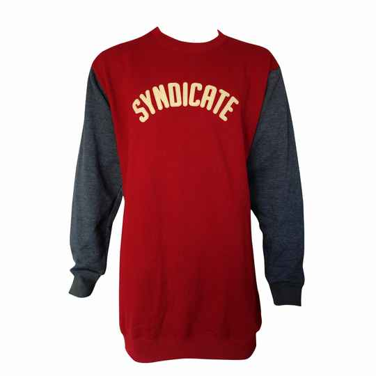 Syndicate Vintage Crewneck, Burgundy/ Grey