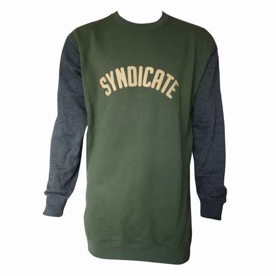 Syndicate Vintage Crewneck, Olive/ Grey