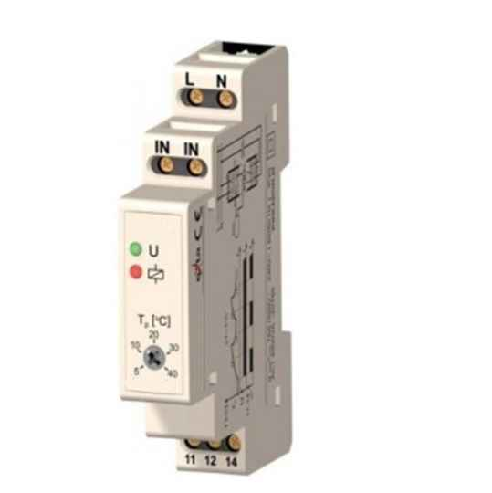 TM03 -10 ~ 90˚C Din Rail thermostaat | 52256