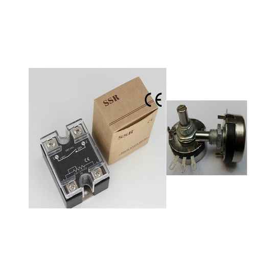 Solid state relais 40A, potmeter aansturing, 24-380v, inclusief potmeter, proportioneel | 51493