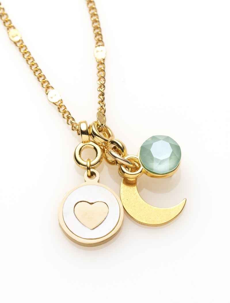 Ketting - Goud - ♥ -  to the moon