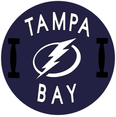 Tampa Bay Lightning Circular Board With Handles - Curved Text