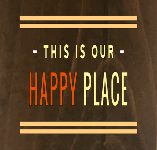 This Is Our Happy Place 8 x 8