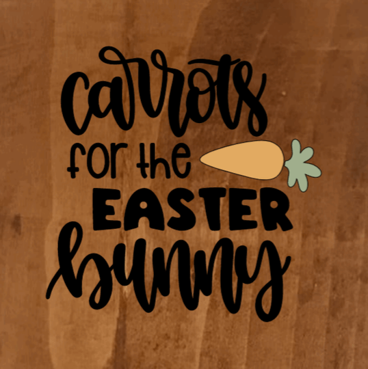 Carrots For The Easter Bunny - 8 x 8