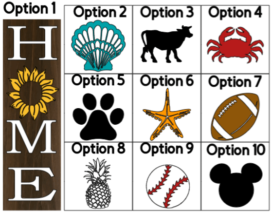"""Home With """"O"""" Option Vertical - 8 x 24_"""
