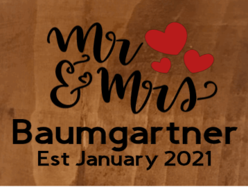 """Mr & Mrs with Last Name, Est Month and Year - 12"""" X 20"""""""