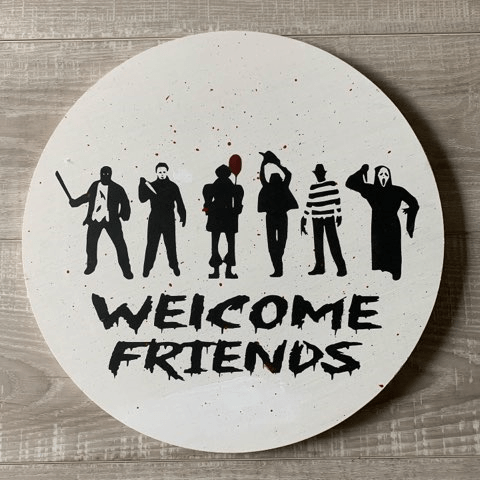 """Welcome Friends Horror Movie Characters - 14"""""""