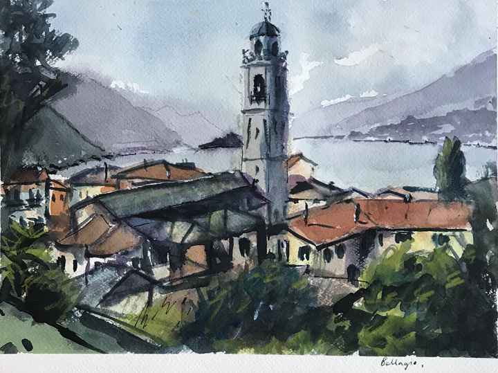 Aquarel Bellagio, Italië