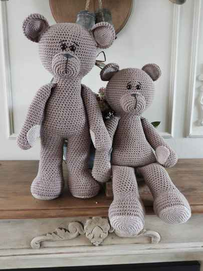62. XXL Funny Bear Basic taupe (staand of zittend)
