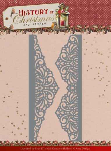 Dies - Amy Design - History of Christmas - Lacy Christmas Borders