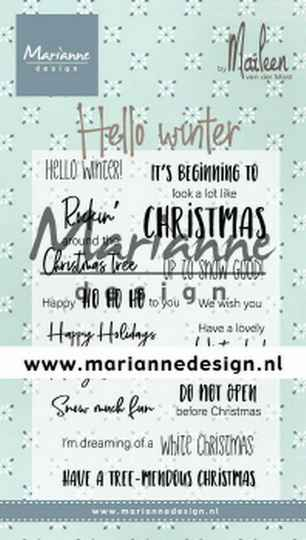 Clear stamp Hello winter by Marleen