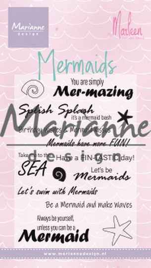 Clear stamp Mermaid sentiments