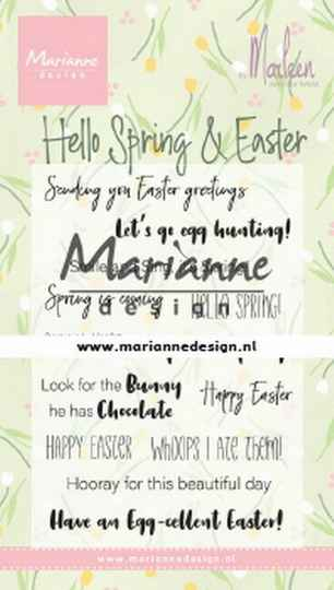 Clear stamp Marleen's Hello Spring & Easter