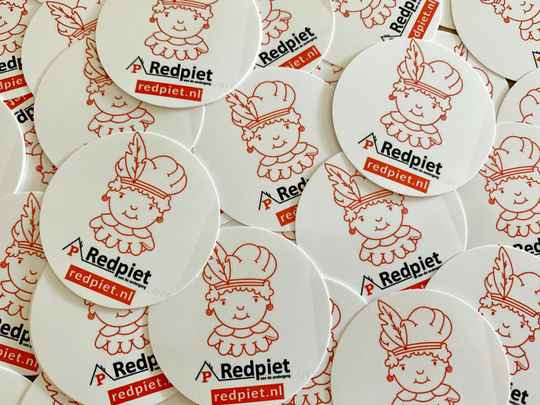 Red Piet stickers Ø 45 mm
