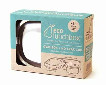 Lunch & Water - Eco lunchboxes - Lunchbox Oval - (Eco-Gr)