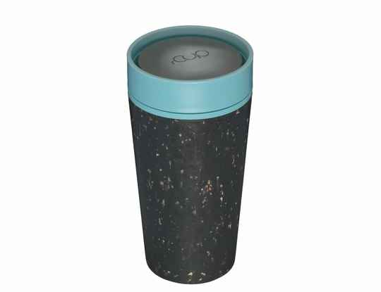 Servies - A short walk - rCUP 350 ml - Black and Teal - (Eco-Gr)
