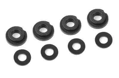 Team Corally - Shock Body Insert - Washer - Composite - 1 set (4+4pcs) C-00180-078