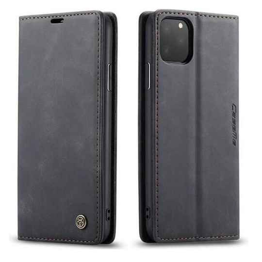 Caseme Retro Wallet Slim Booktype hoesje voor de iPhone 12 / 12 Pro - zwart