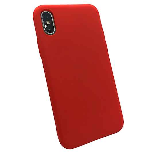 Softgrip Backcover voor de iPhone X / Xs - Rood