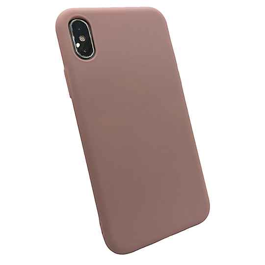 Softgrip Backcover voor de iPhone X / Xs - Pastel roze