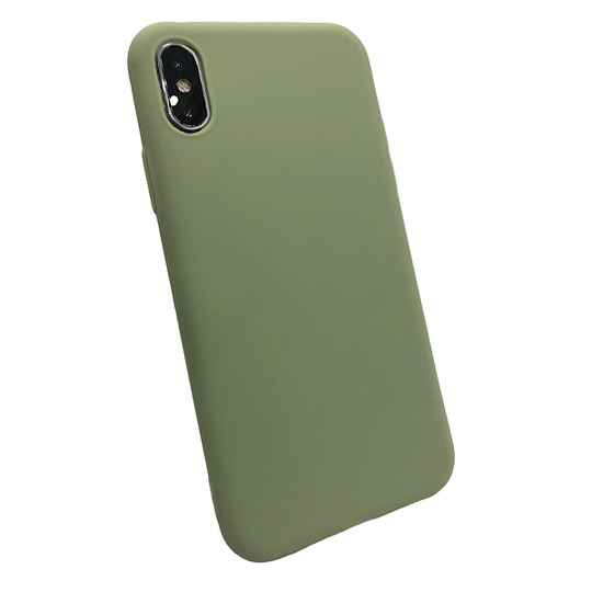 Softgrip Backcover voor de iPhone X / Xs - Groen