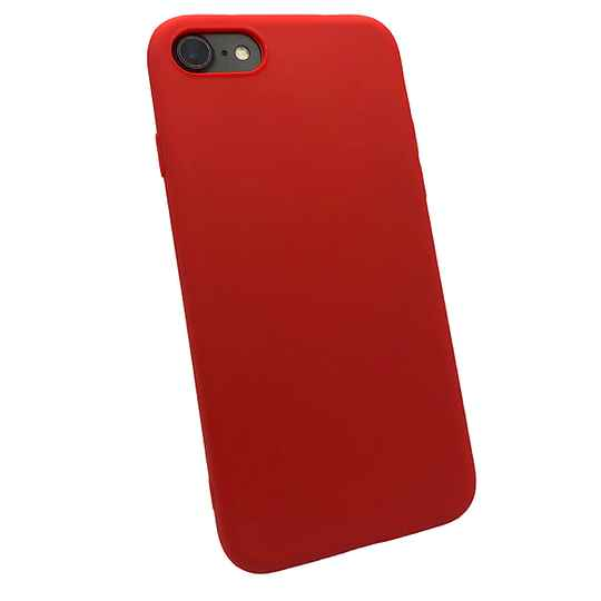 Softgrip Backcover voor de iPhone SE (2020) / 8 / 7 - Rood