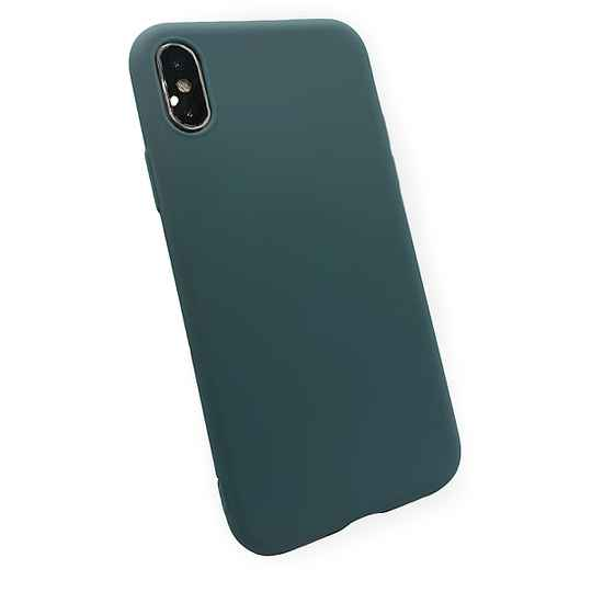 Softgrip Backcover voor de iPhone X / Xs - Blauw (Lake)