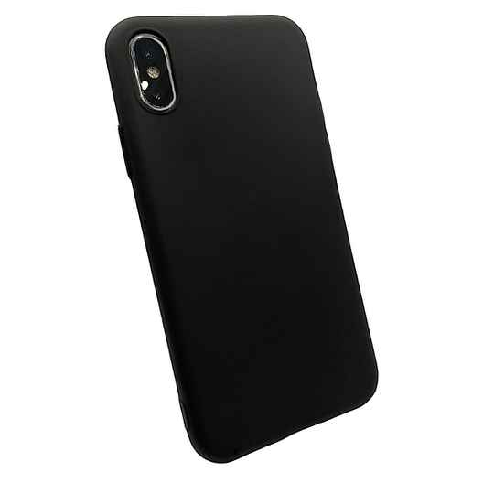 Softgrip Backcover voor de iPhone Xs / X - Zwart