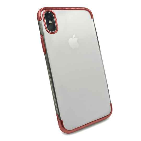 Clear accent hoesje voor de iPhone Xs Max - Rood transparant