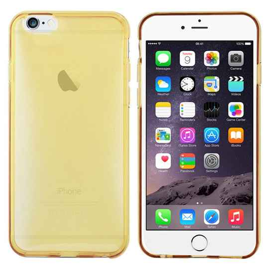 Glossy Backcover, hoesje voor de iPhone 6/ 6s - Goud transparant