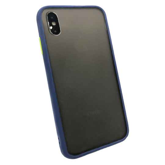 Colorbutton Backcover voor de iPhone Xs Max - donkerblauw