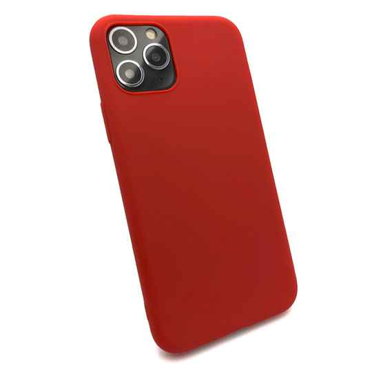 Softgrip Backcover voor de iPhone 11 Pro Max - Rood