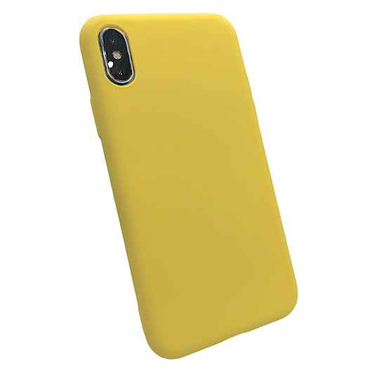 Softgrip Backcover voor de iPhone X / Xs - Geel