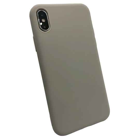 Softgrip Backcover voor de iPhone X / Xs - Grijs